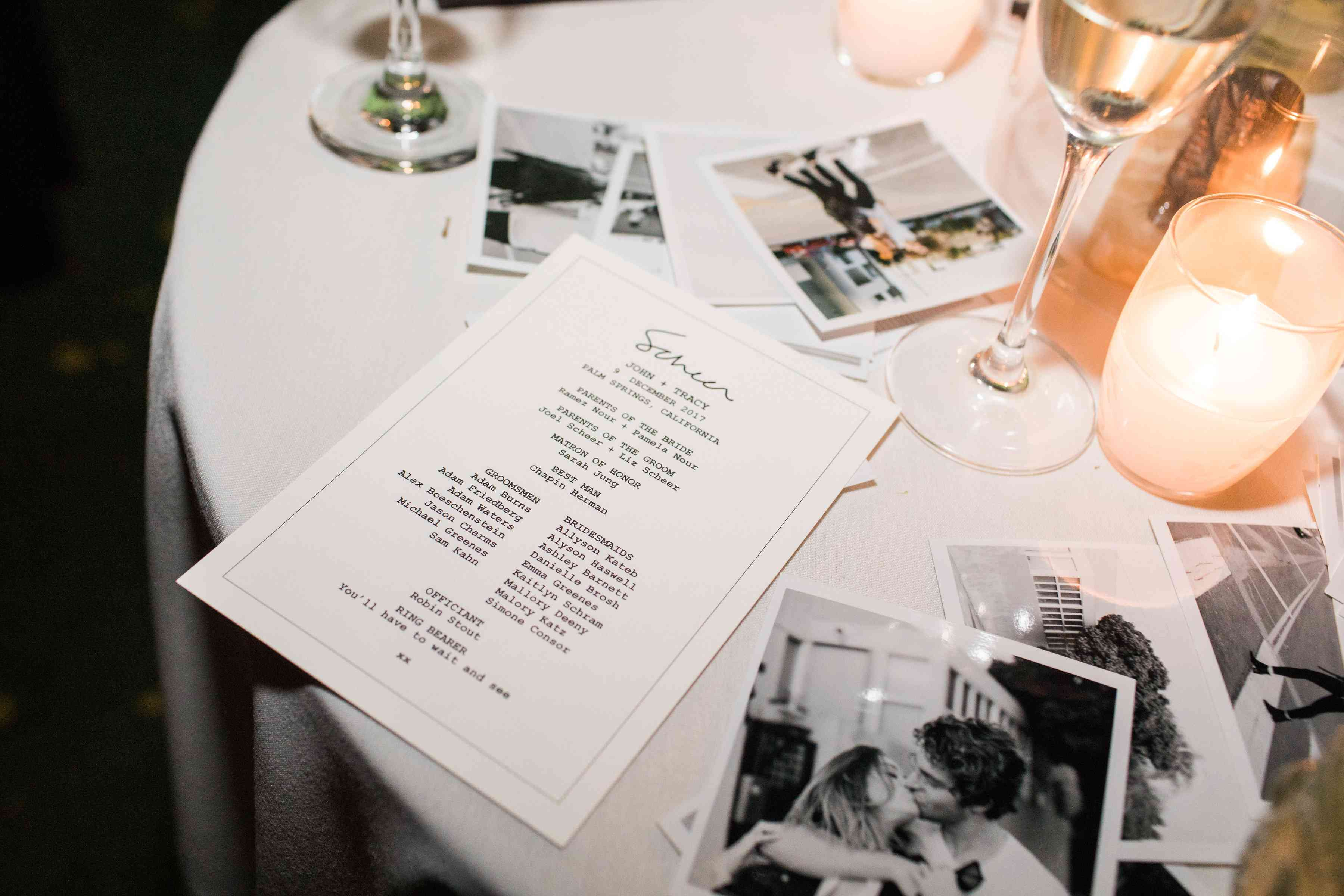<p>polaroid photos from guests</p><br><br>