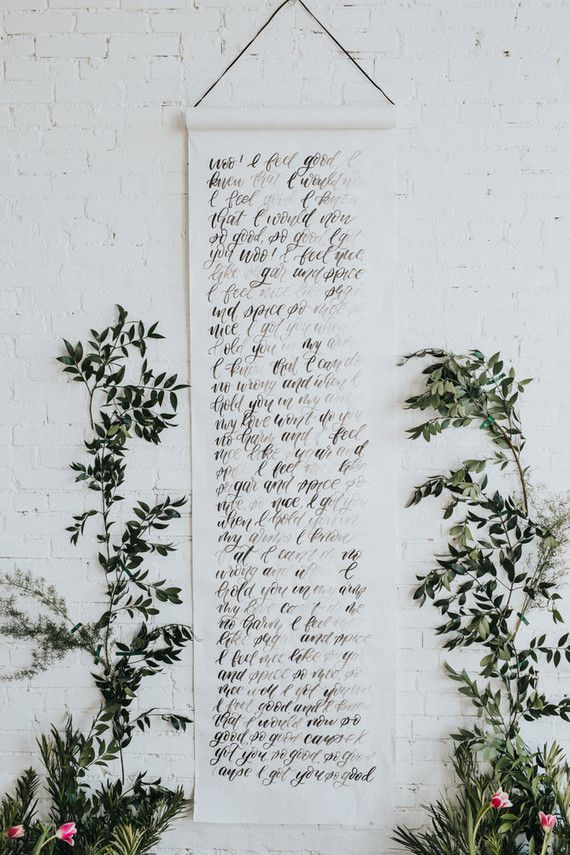 Scroll of Calligraphy With Wedding Vows