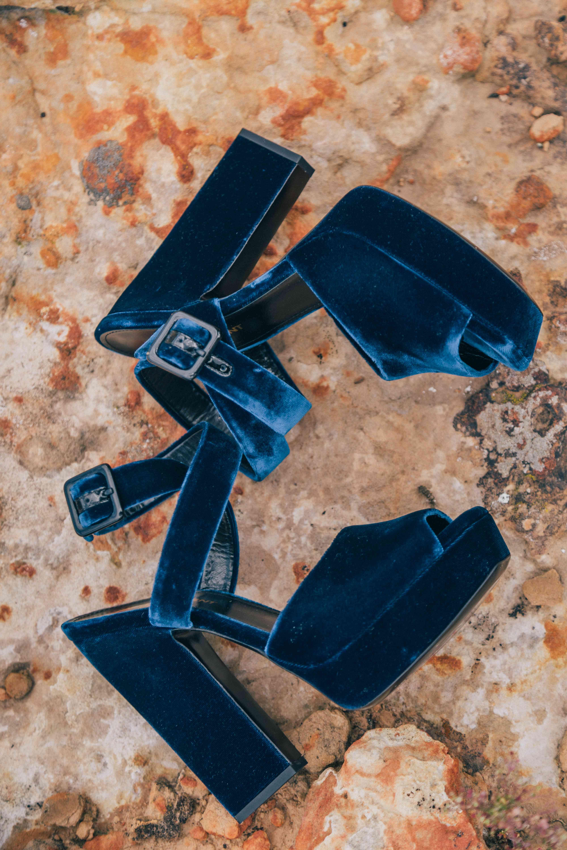 <p>Bride's wedding shoes blue</p><br><br>