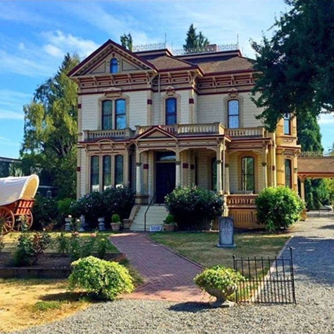 Fans of the Oregon Trail will love to find wedded bliss at the Meeker Mansion , originally the mid-19th century home to pioneers Ezra and Eliza Meeker. The couple were influential in the founding of Puyallup and it seems that they wanted to stick around and see how their town developed. Some guests can suddenly catch the strong smell of perfume — possibly Eliza's. Others, on multiple occasions, have reported the phantom of Ezra. One sighting even happened on a happy couple's wedding day. Thinking an Ezra impersonator had come to greet them, guests watched the period-clad man descend the stairs in the front parlor. No sooner had they snapped a picture than the man disappeared without a trace
