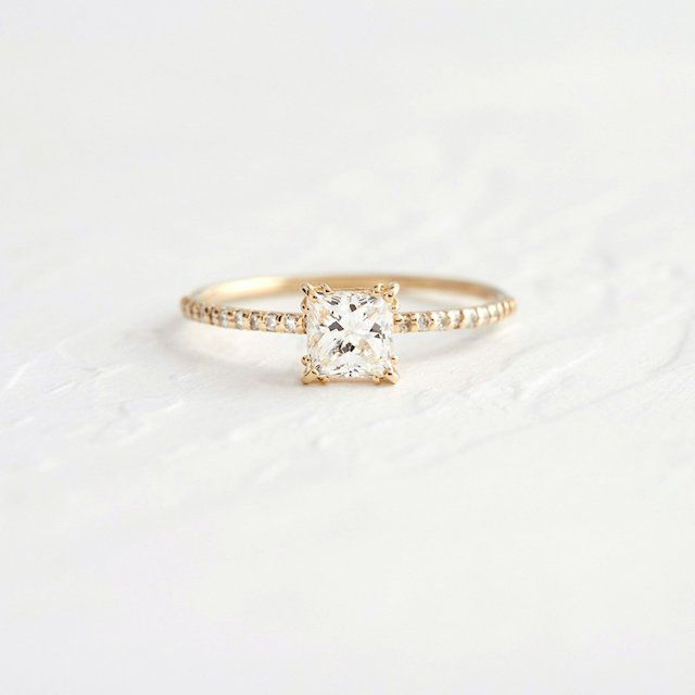 Melanie Casey Unveiled Ring with Pave Band