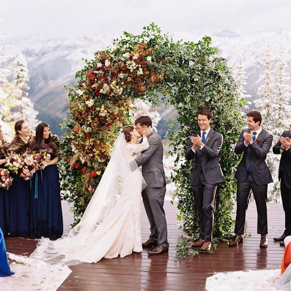 Bride and groom kissing main image