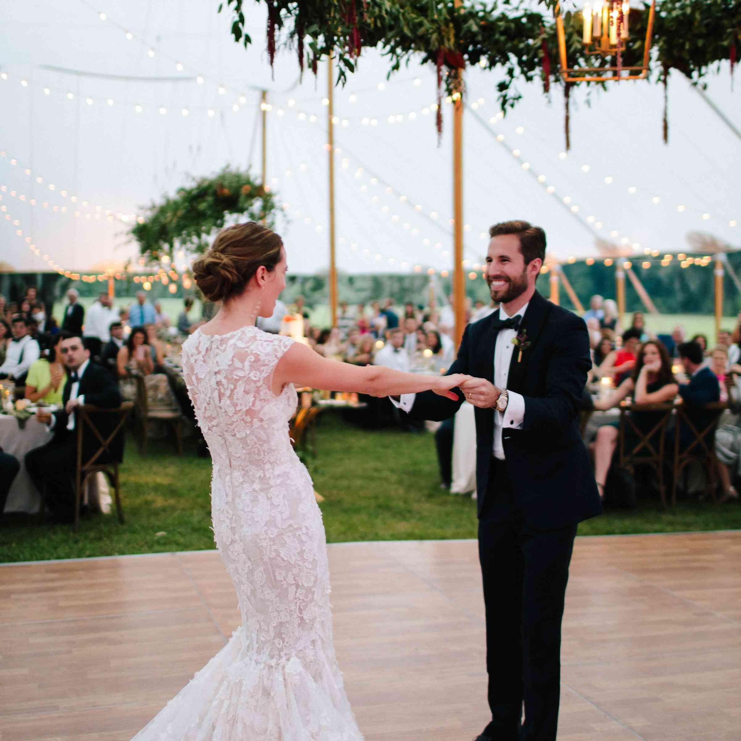 <p>Bride and groom during first dance</p><br><br>