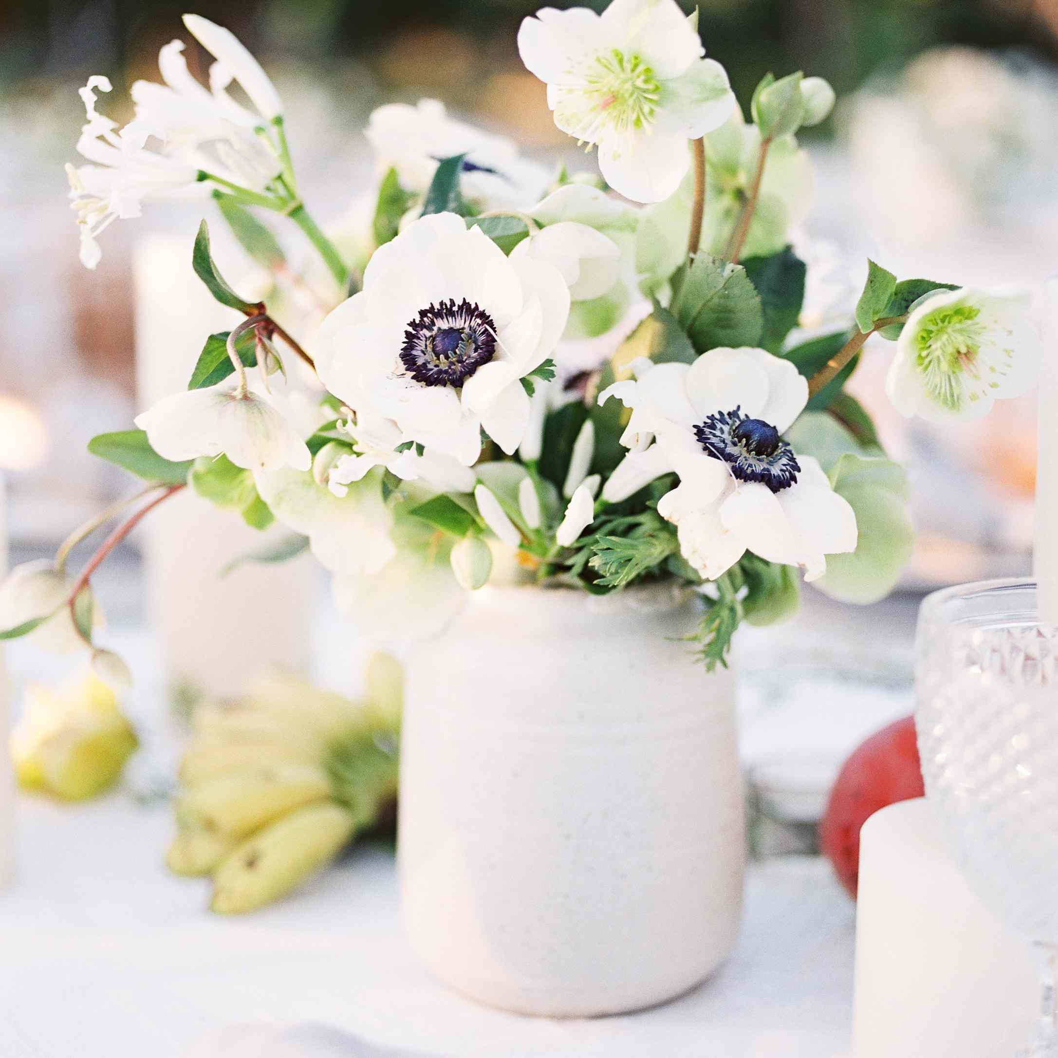 wedding reception flower arrangement