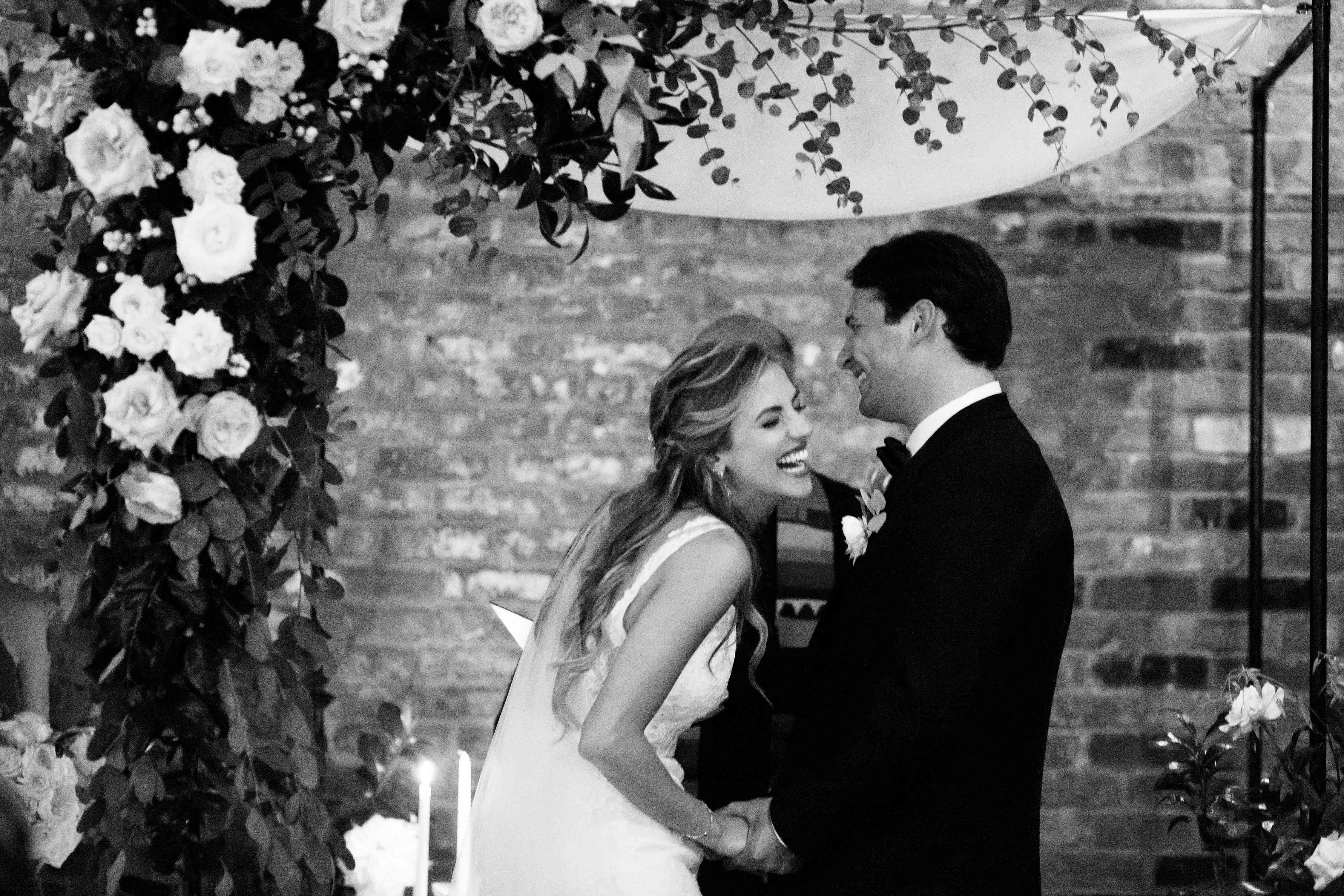 <p>laughing during vows</p><br><br>