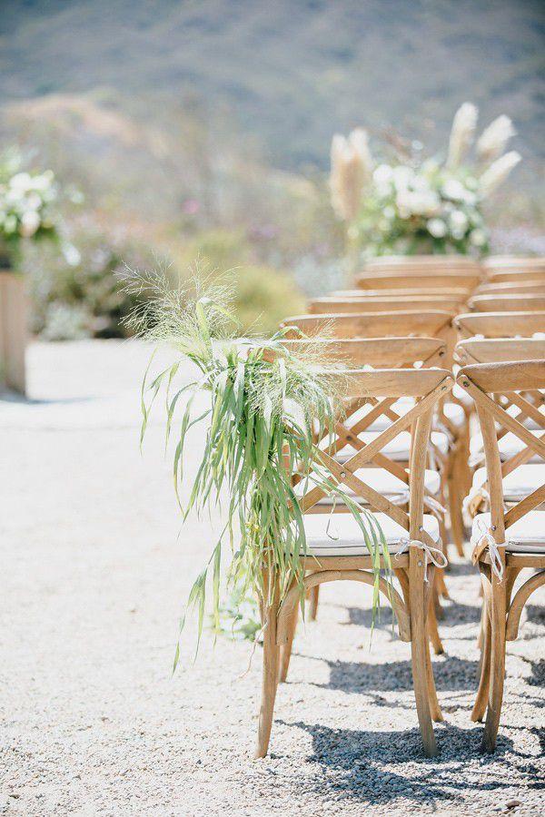 Tillandsia Wedding Ceremony Chair Decor