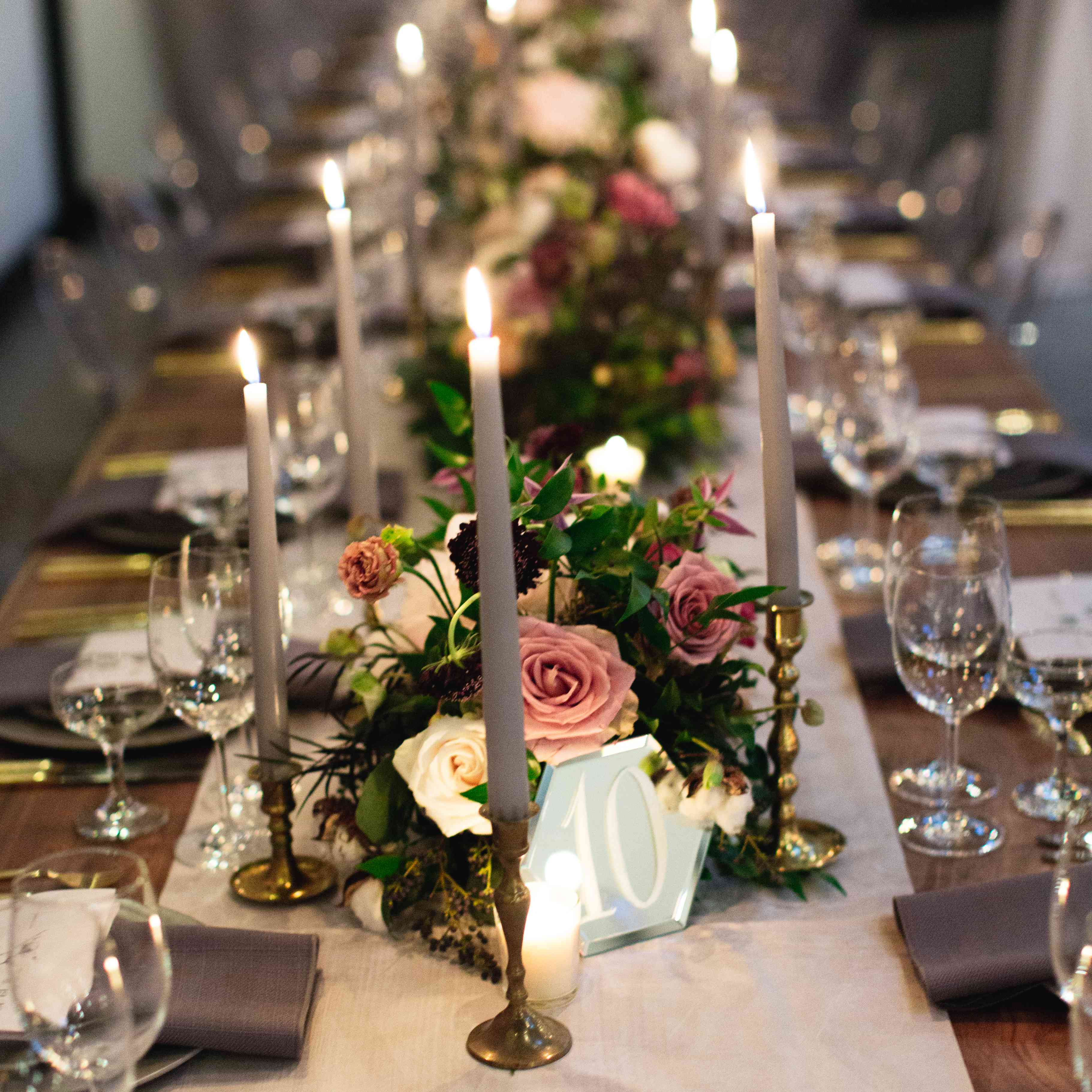 Tablescape with table number