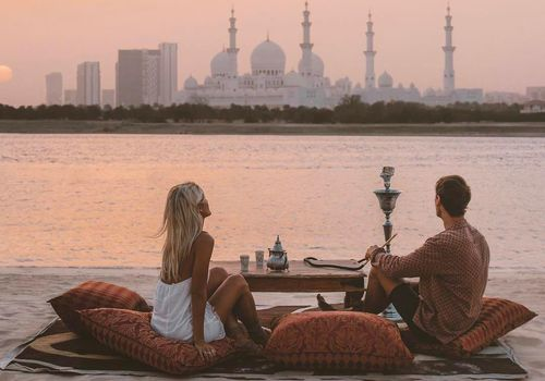 Couple Honeymooning in Abu Dhabi