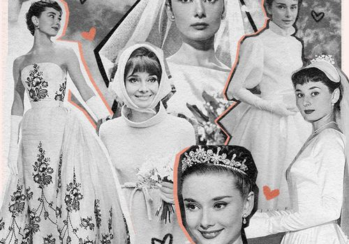 Audrey Hepburn Wedding Collage