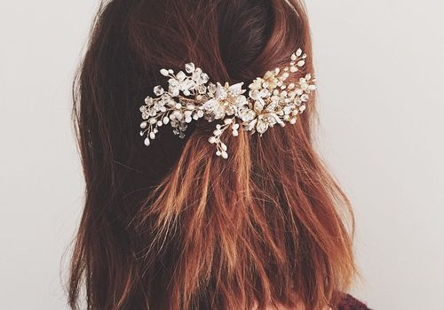 short hair bridal style