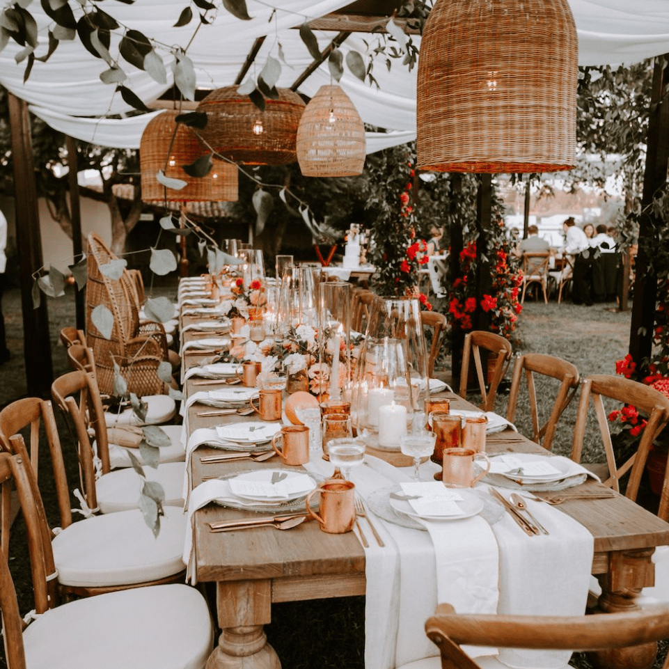 Rustic Tablescape with Copper Accents