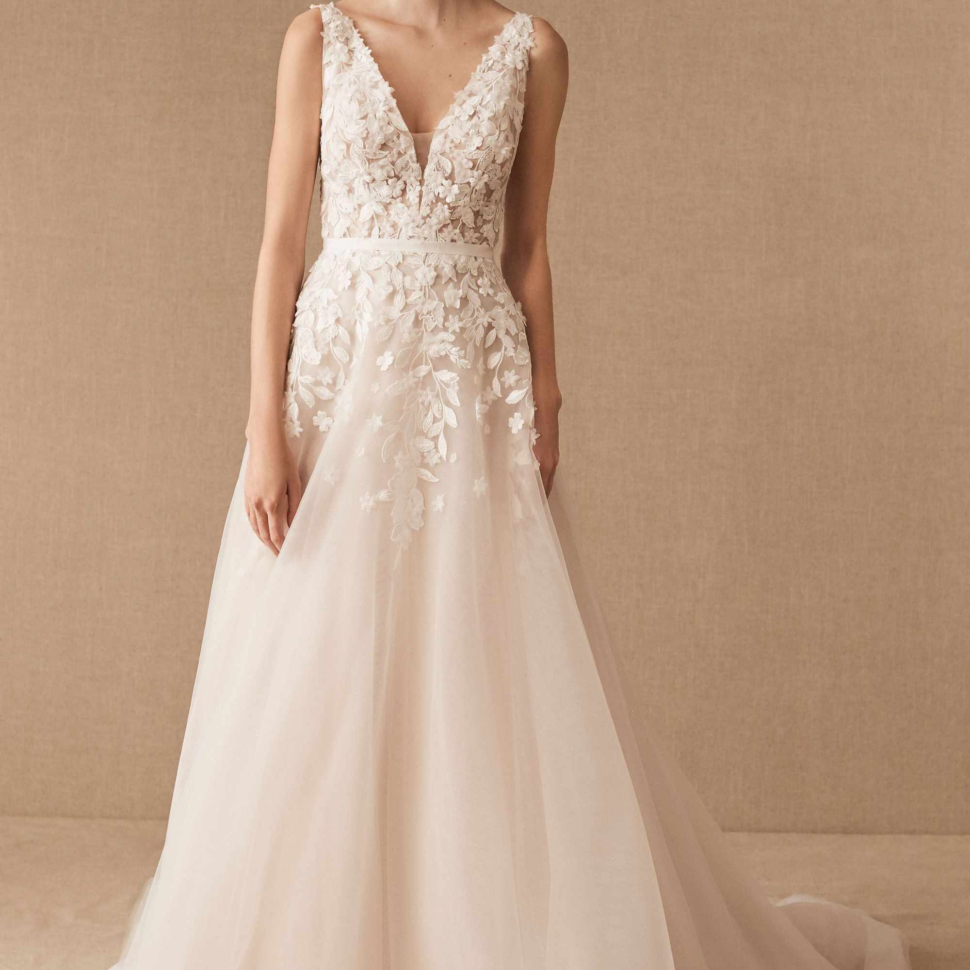 The 20 Best Places To Buy Wedding Dresses Online Of 2020,Blush Pink Ball Gown Wedding Dress