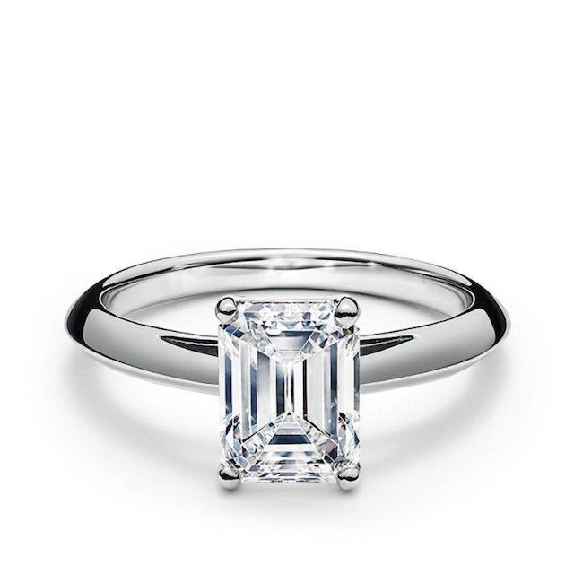 Tiffany & Co. Emerald-cut Diamond Engagement Ring in Platinum