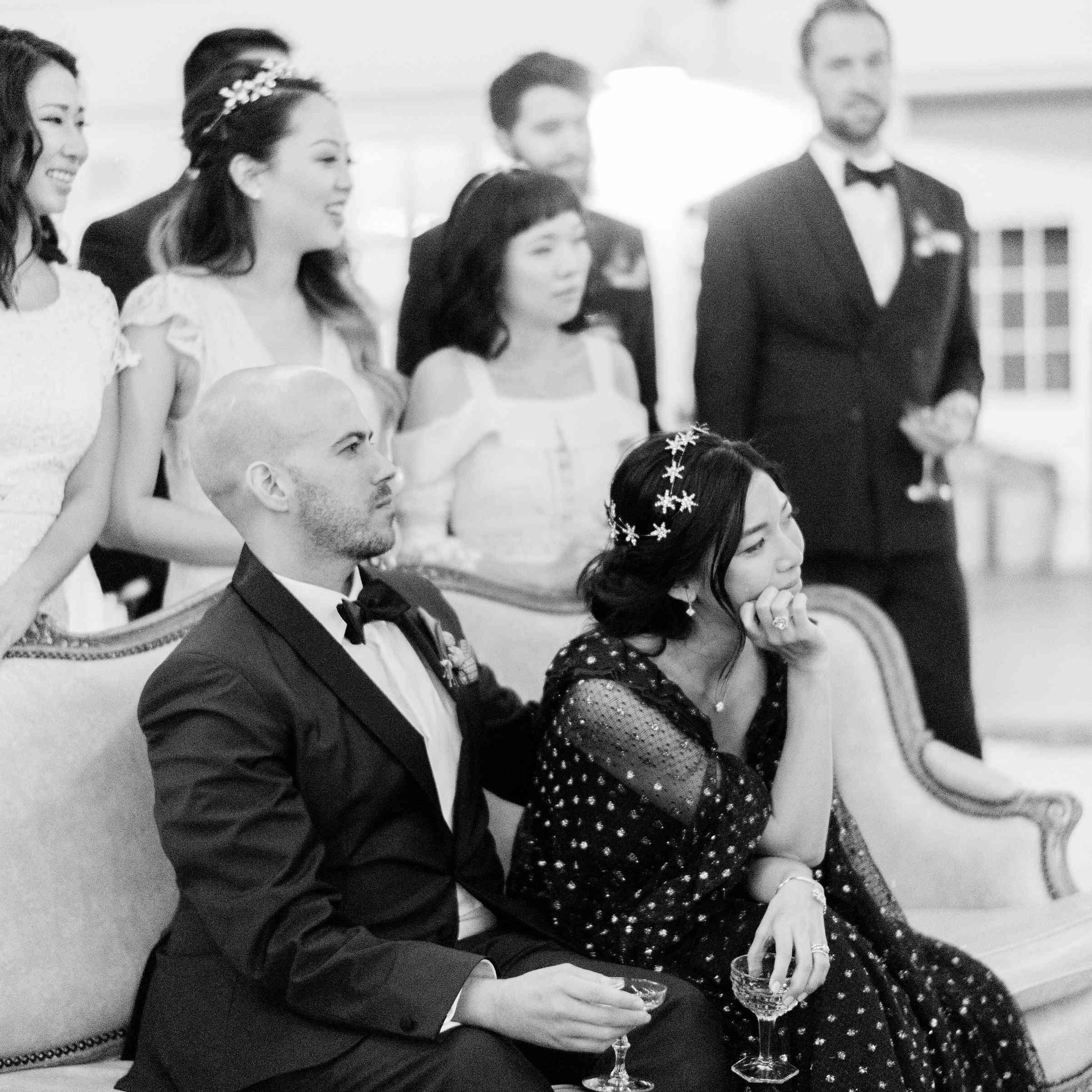 Bride in Lanvin Reception Dress