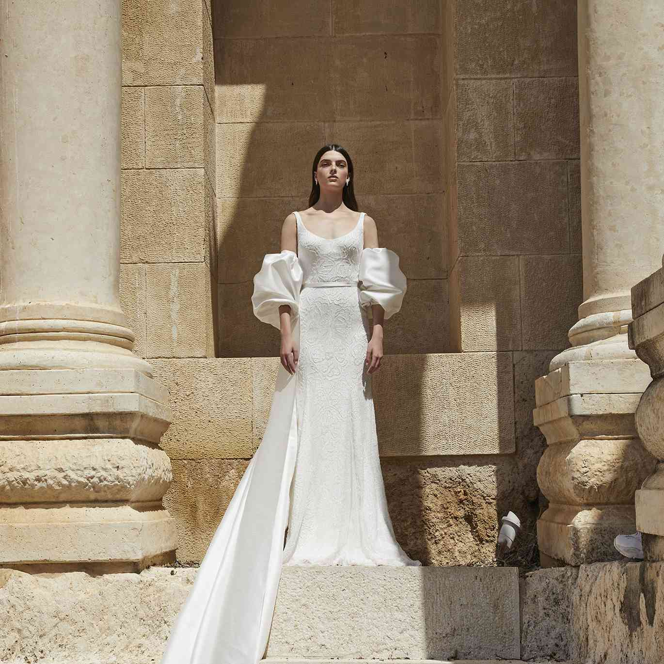 White gown and coat