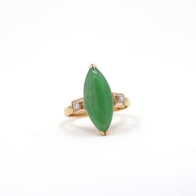 Vintage Jade Engagement Ring