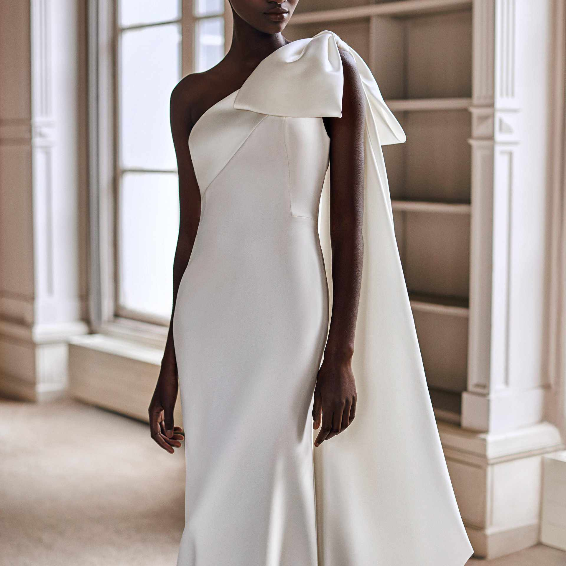 Viktor&Rolf Mariage One-Shoulder Bow Fit-and-Flare Wedding Gown, price upon request