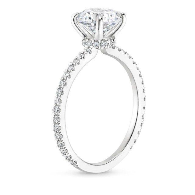 platinum hidden halo ring