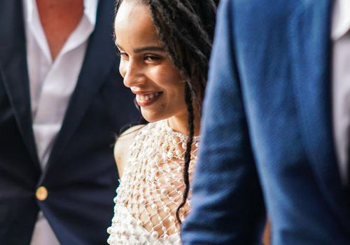 Zoe Kravitz arrives at Laperouse restaurant for a pre-wedding dinner.