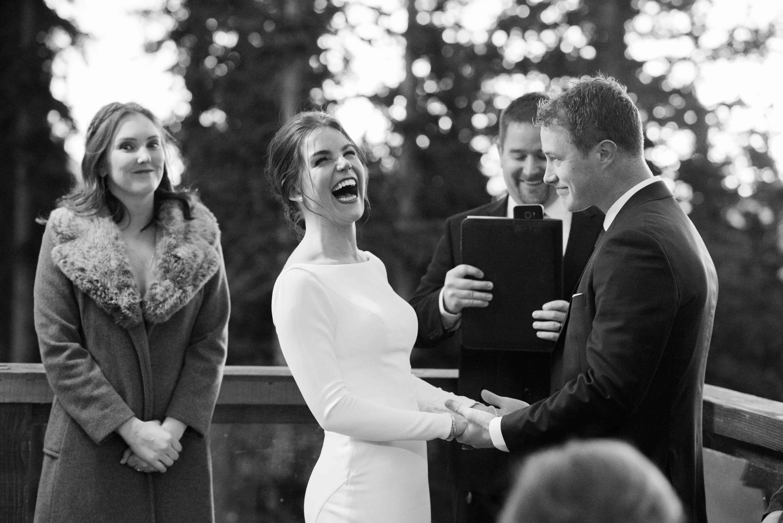 bride and groom outdoor ceremony