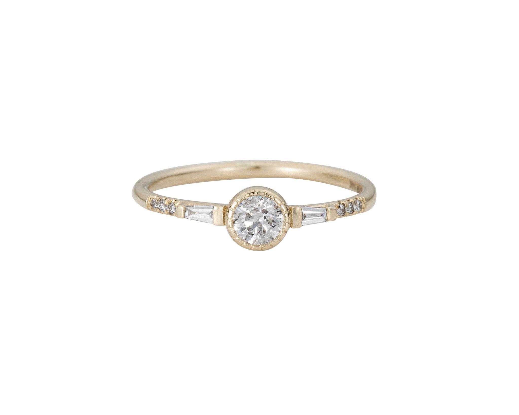 Jennie Kwon Diamond Baguette Mini Equilibrium Ring