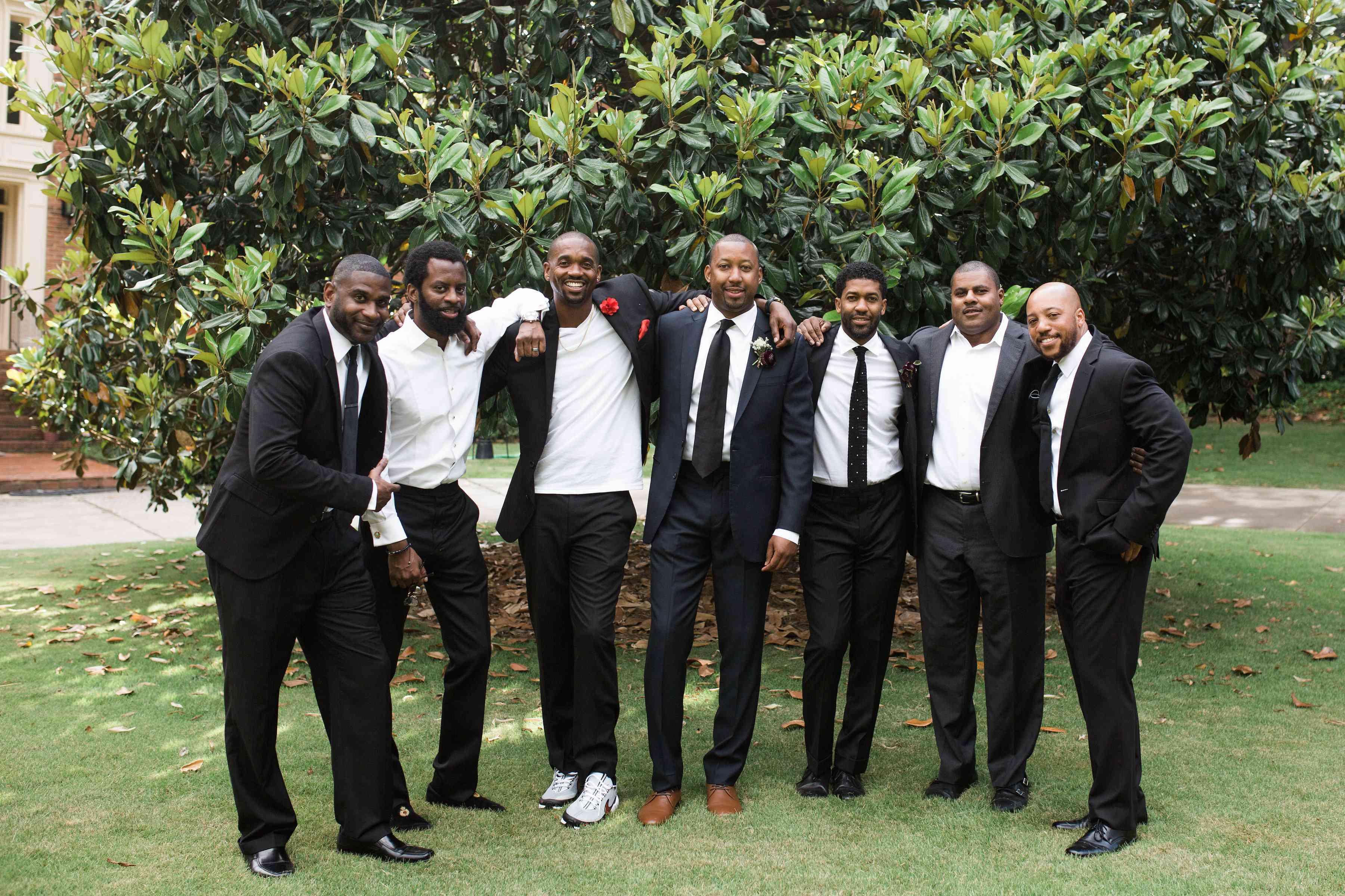 Atlanta groomsmen with groom