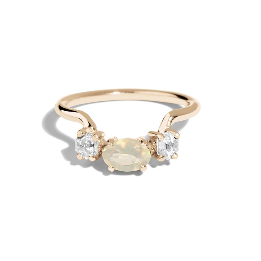Bario Neal Icon Opal and Hex Diamond Ring