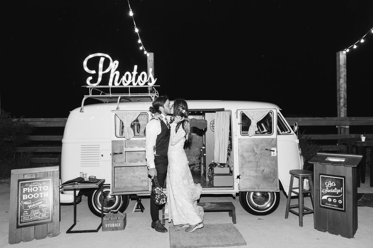 <p>Bride and Groom in front of Photo Booth Van</p><br><br>