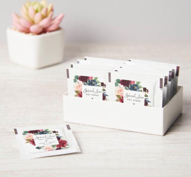 Zazzle Radiant Bloom Wedding Hand Sanitizer Packet