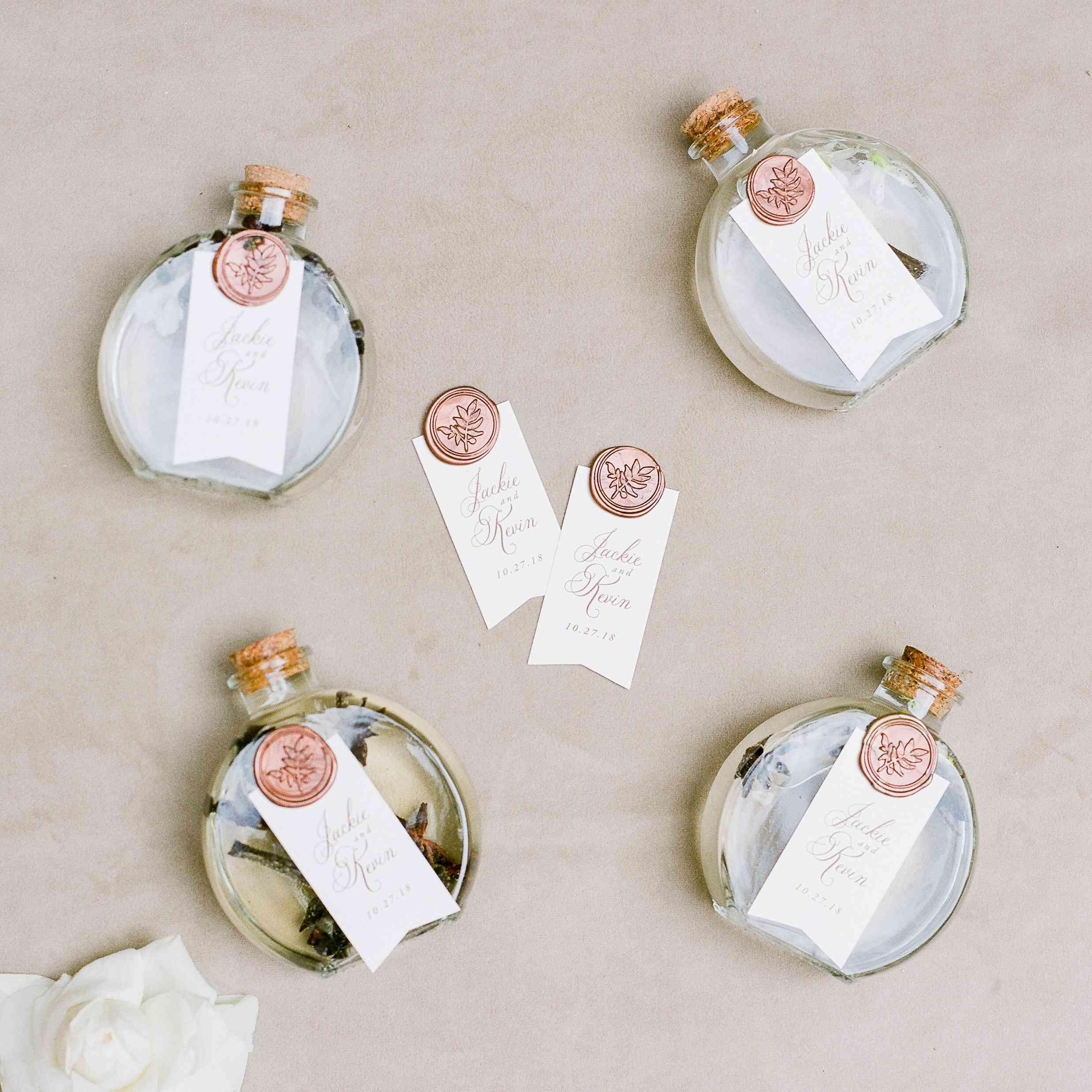 Herb-infused wedding favor