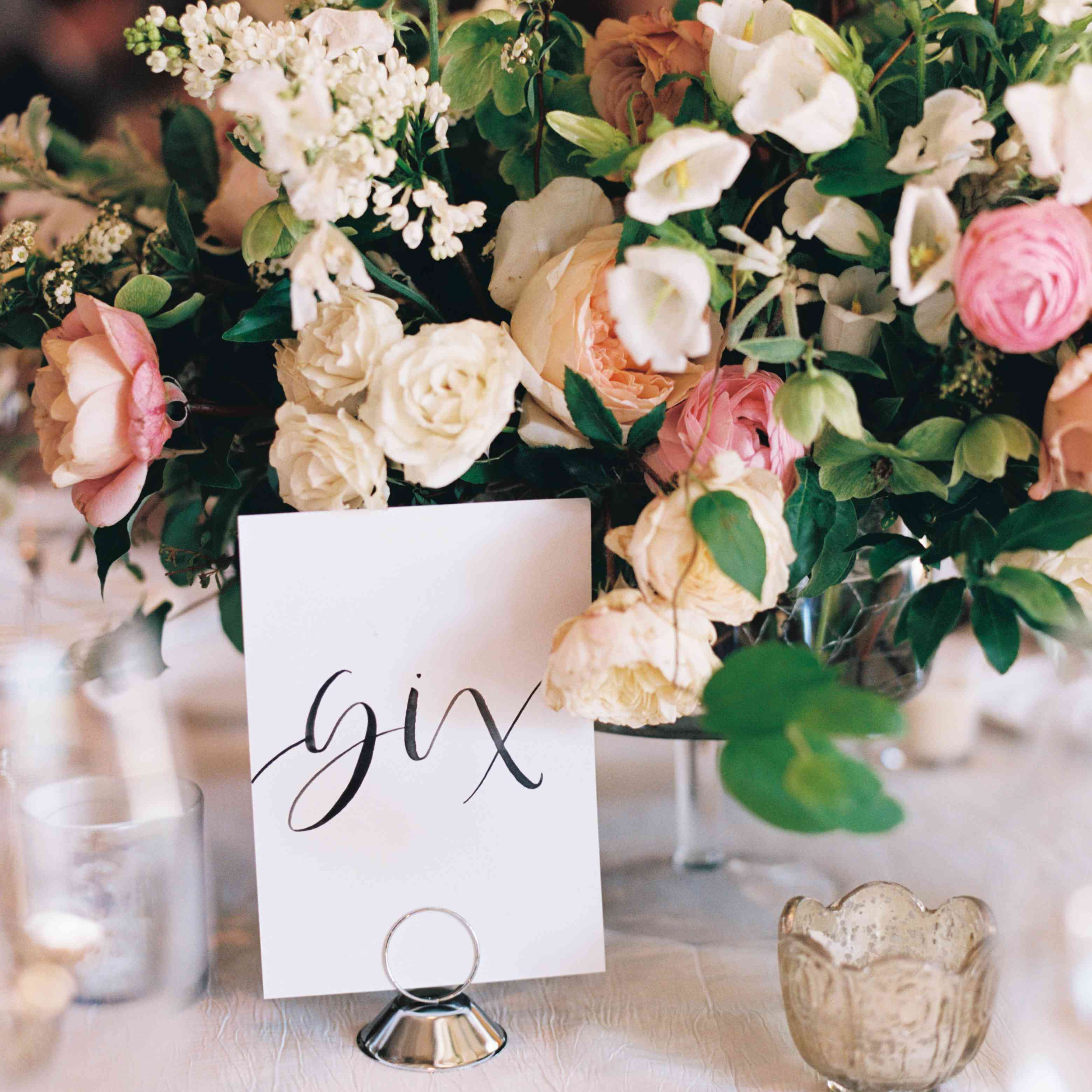 <p>Reception Table number</p><br><br>