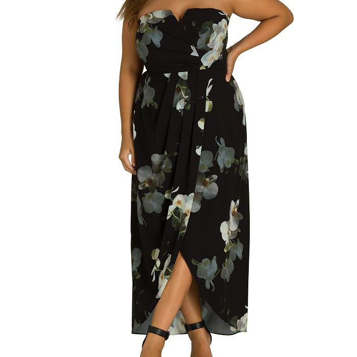 City Chic Plus Orchid Dreams Strapless Maxi Dress, $149, on sale $78.23