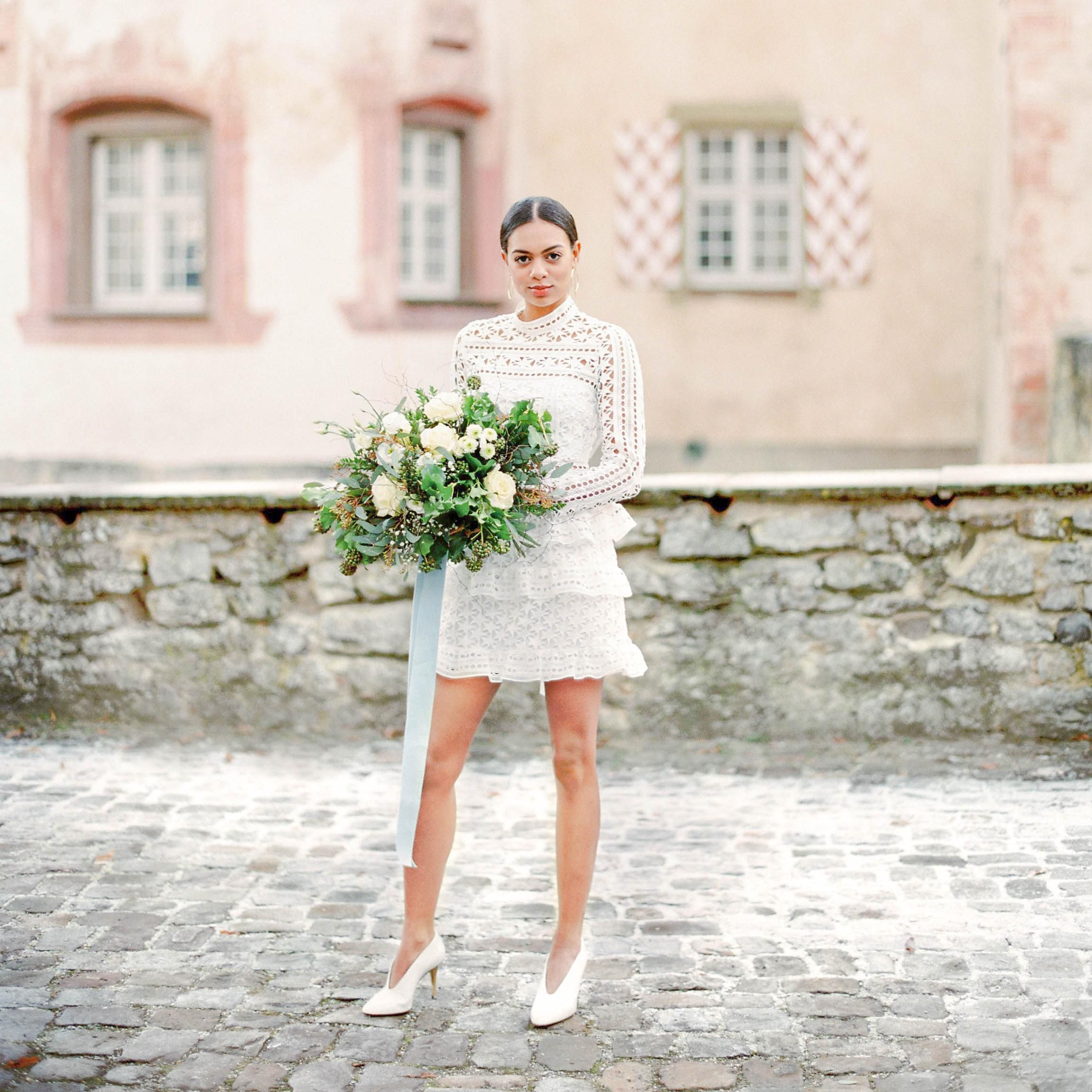 These Brides Made Short Wedding Dresses Look So Bridal