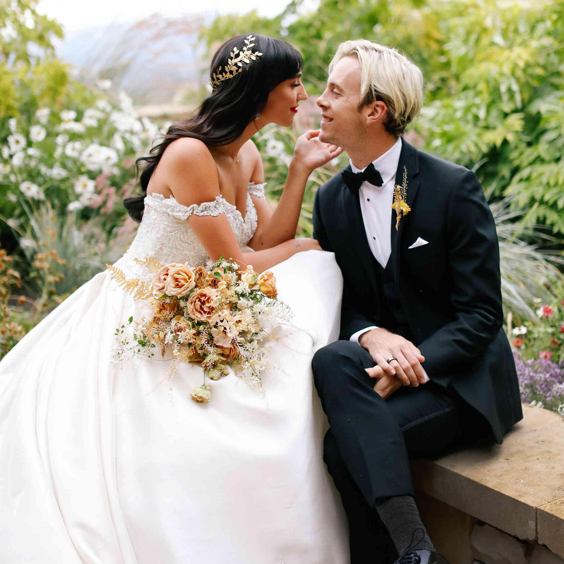savannah and riker wedding, couple