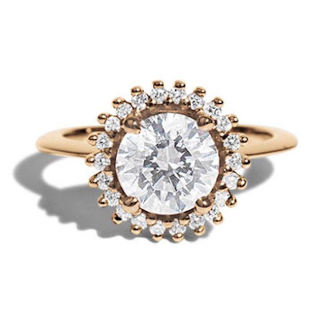 Bario Neal Stellium Diamond Halo Ring