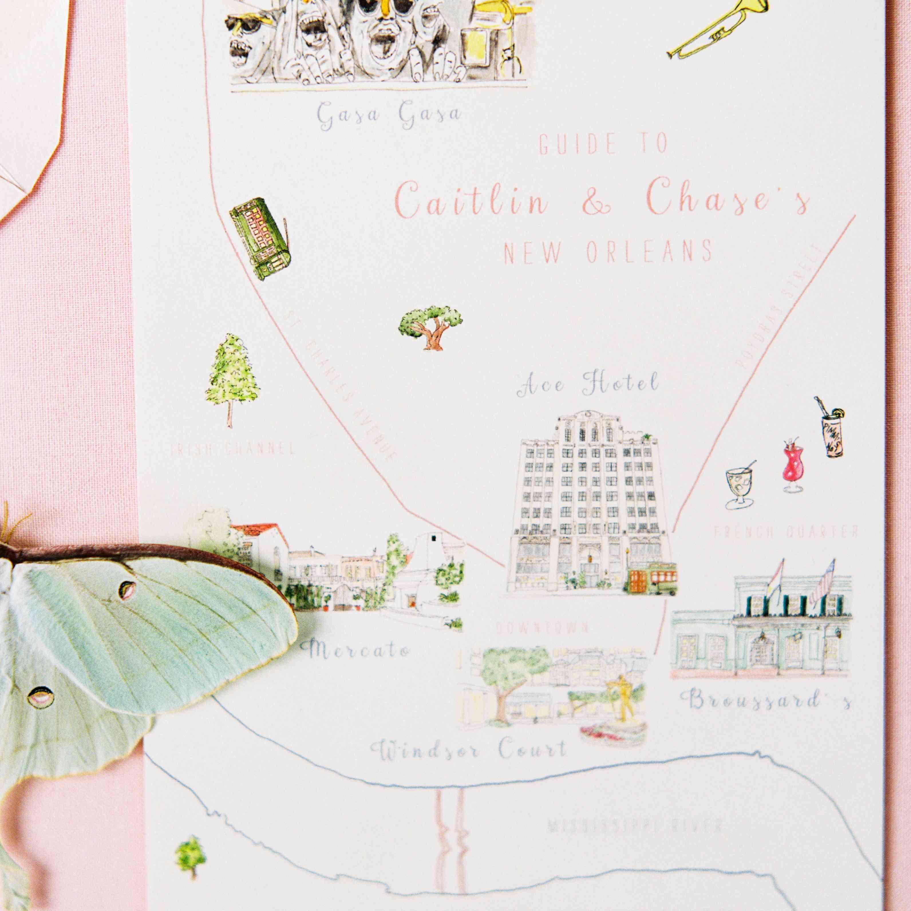 colorful wedding invitation suite
