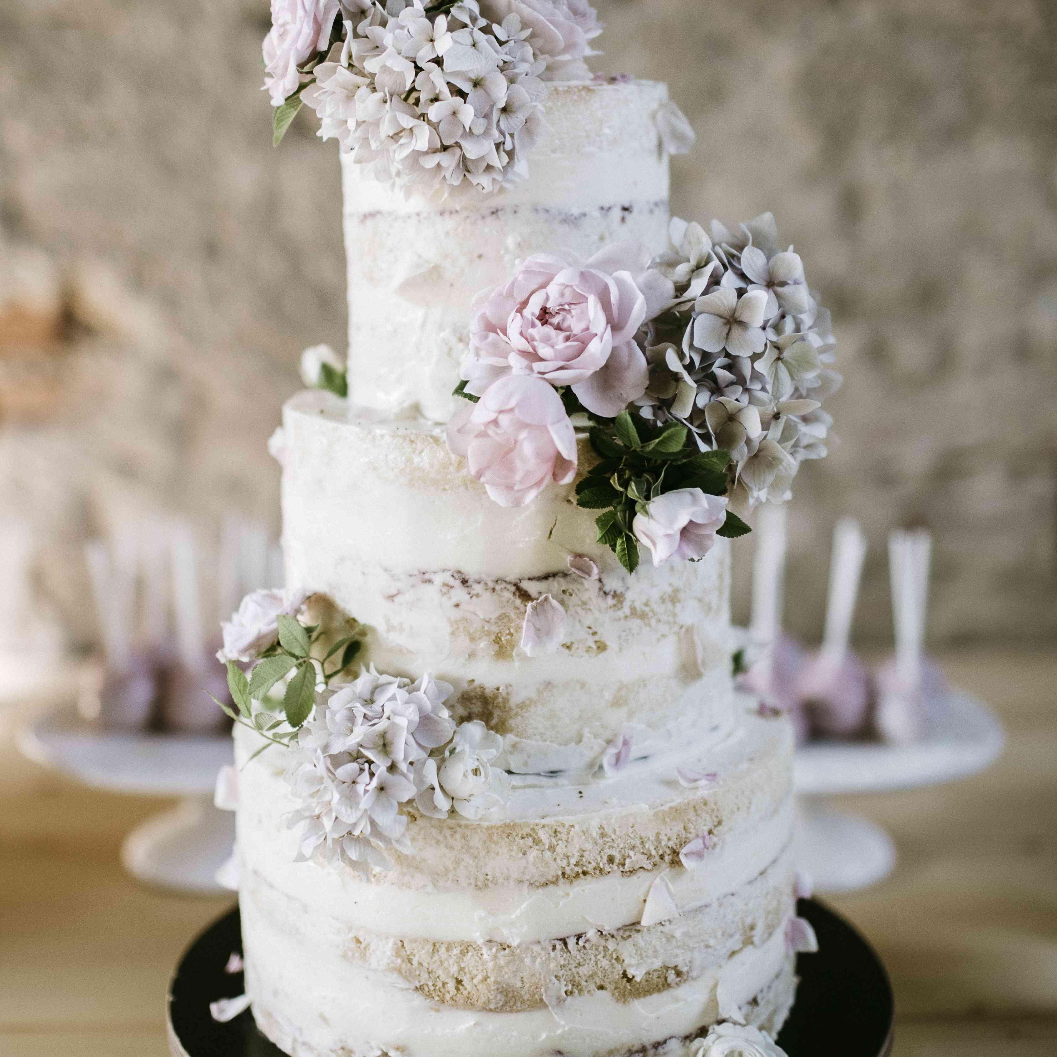 Rustic and Whimsical Naked Wedding Cake