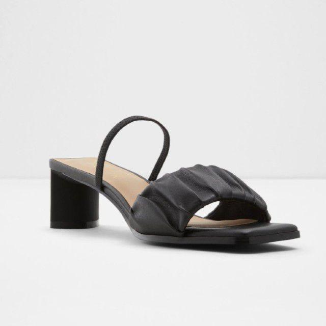 black block heel shoe