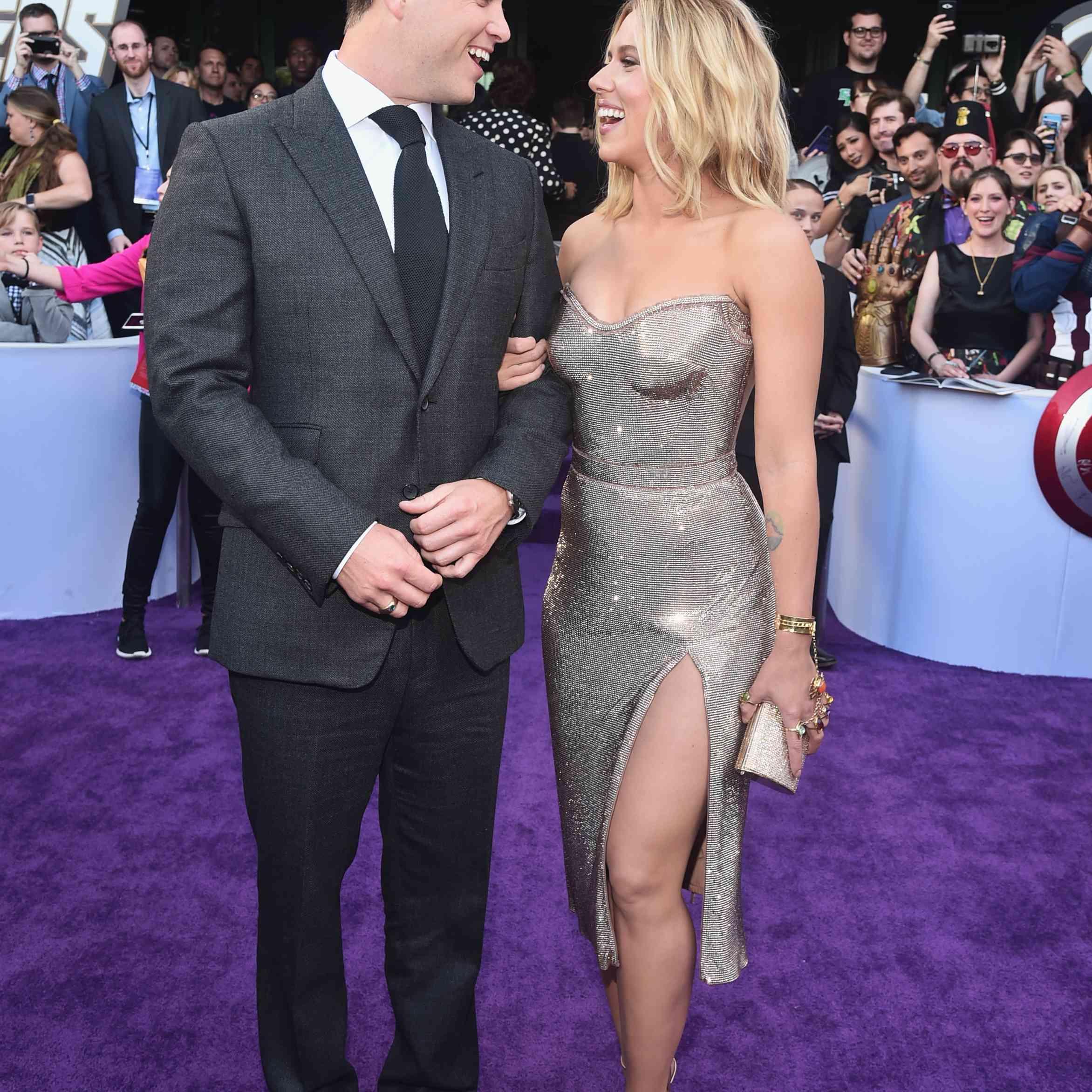 Colin Jost and Scarlett Johansson Avengers End Game
