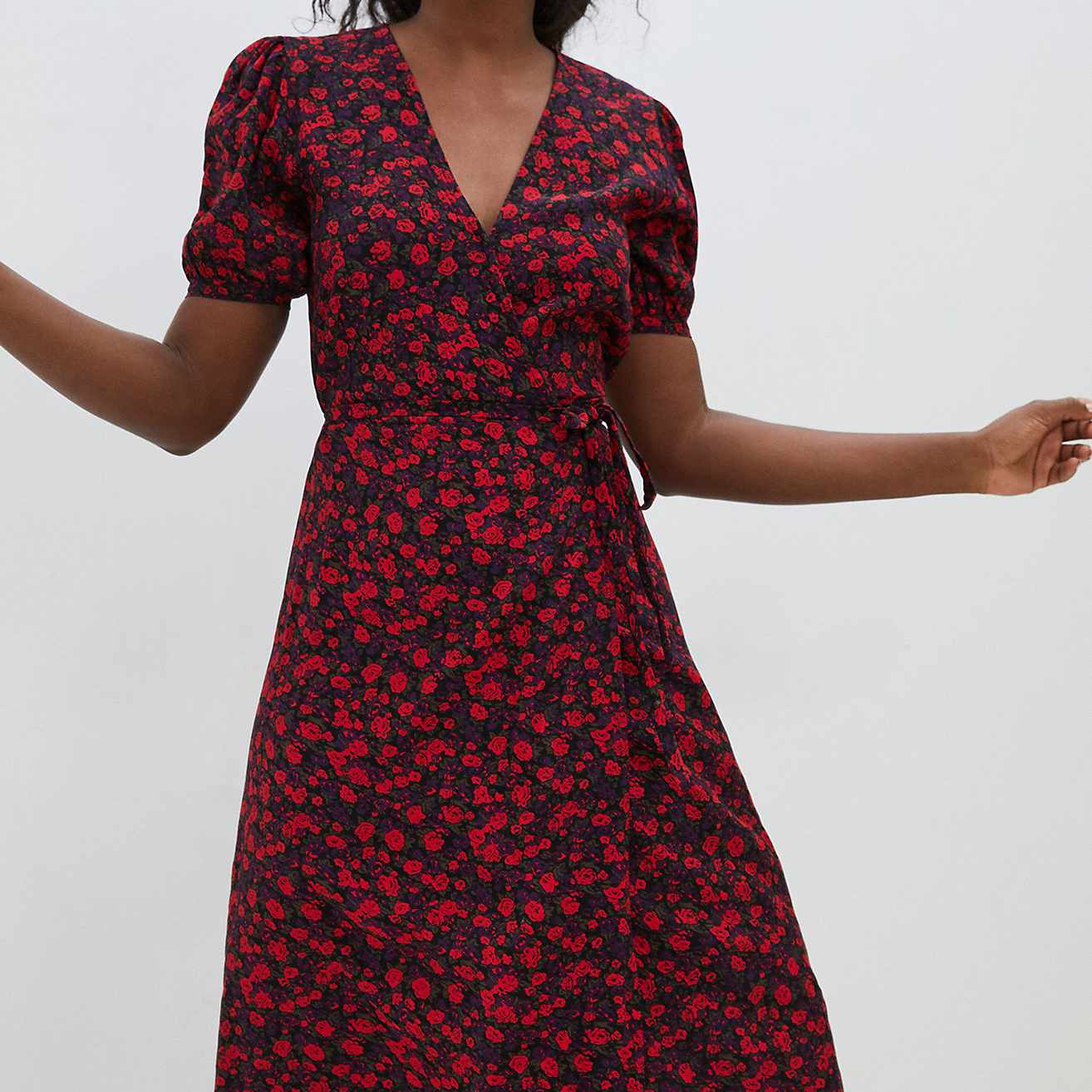 Faithfull Uma Wrap Midi Dress
