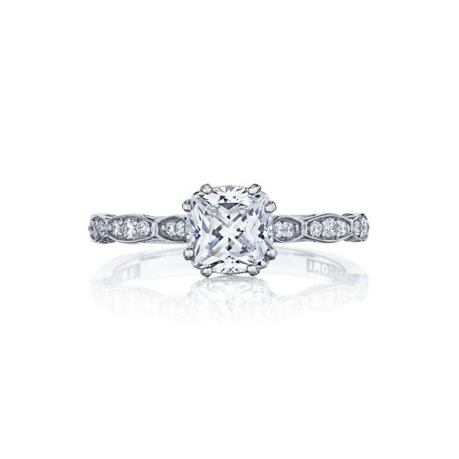 Tacori Sculpted Crescent Engagement Ring in Platinum