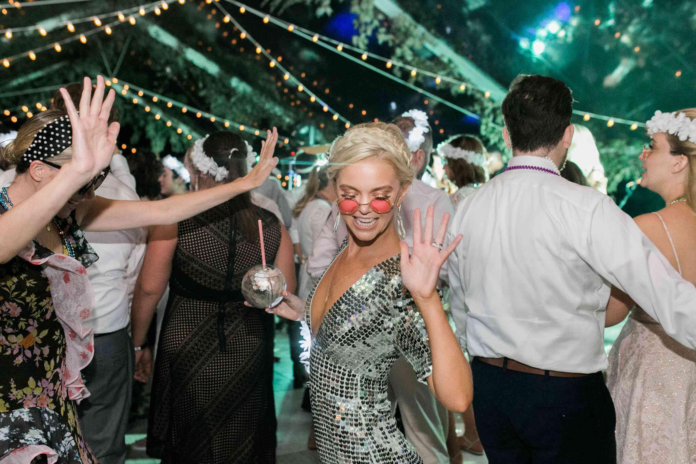 reception dance floor sequin jumpsuit
