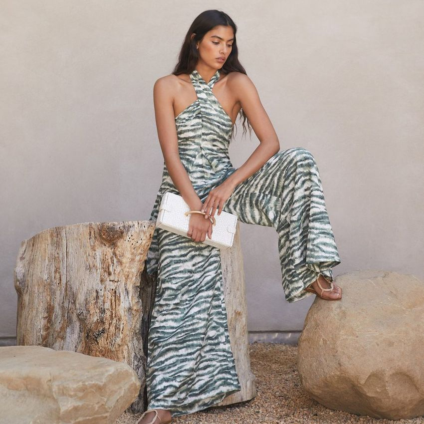 zebra print jumpsuit