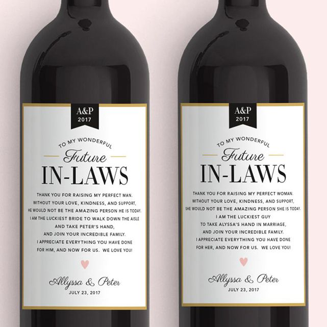 Label With Love In Law Wine Labels