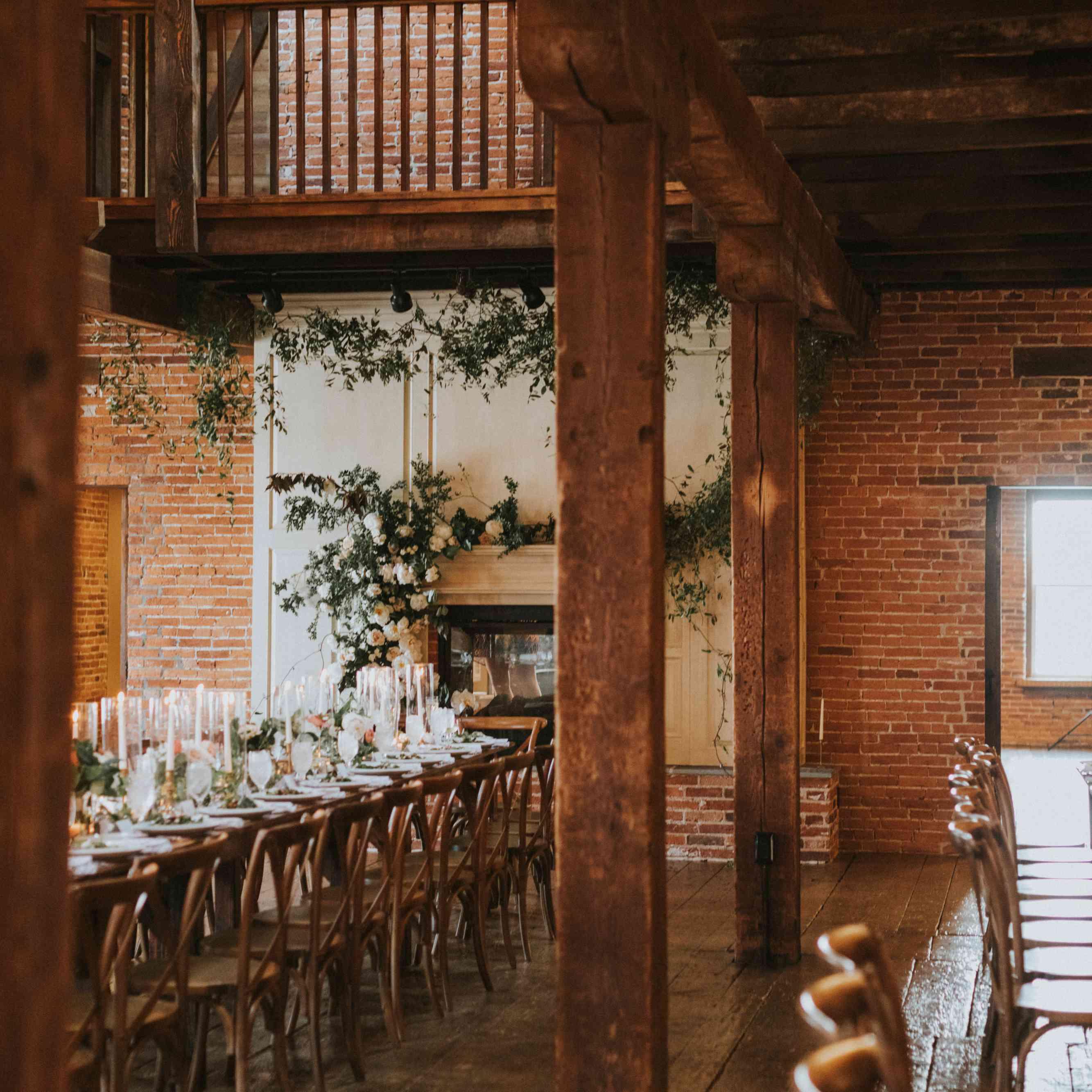 family-style wedding reception