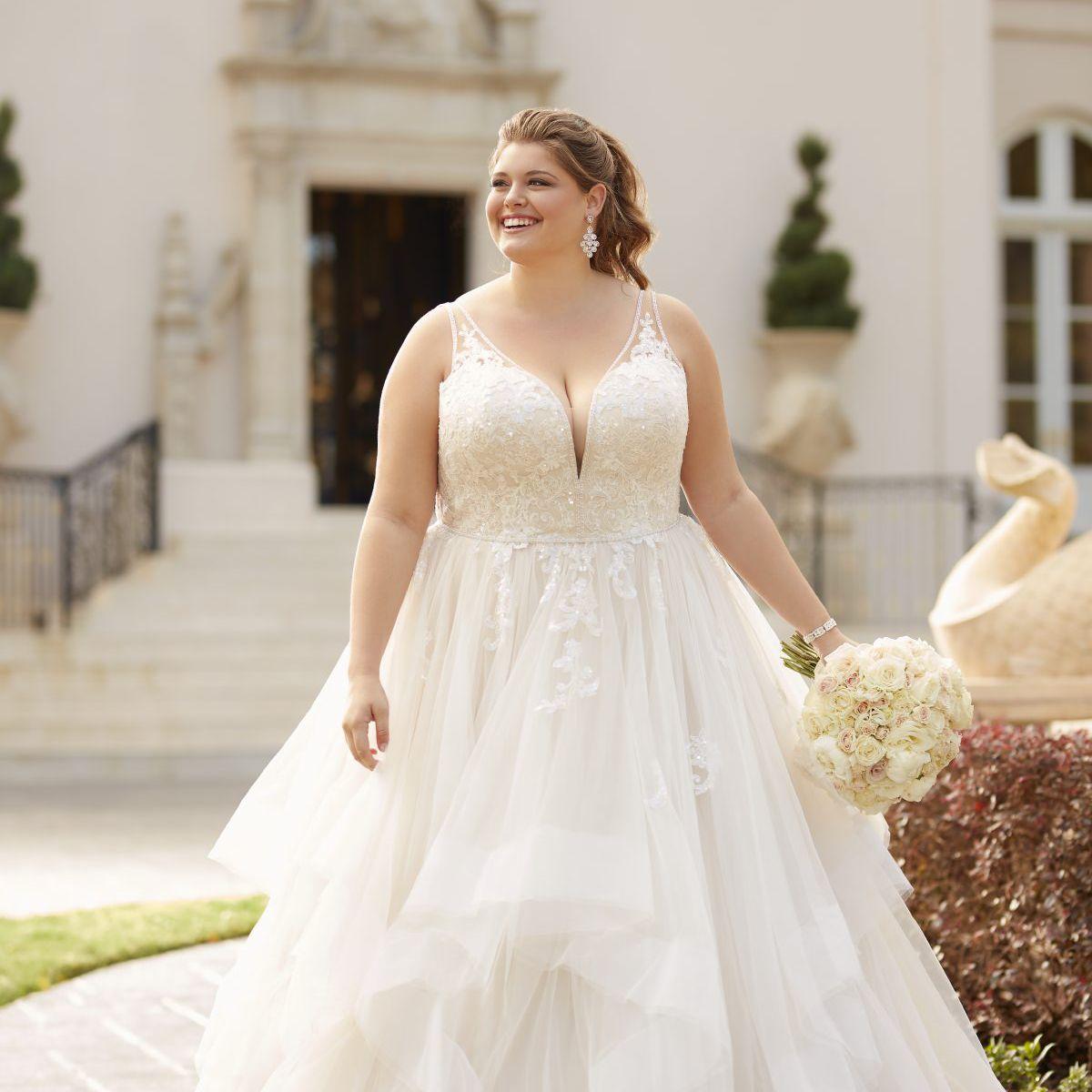 11 Best Wedding Dress Styles For Plus Sizes,Figure Flattering Wedding Dresses