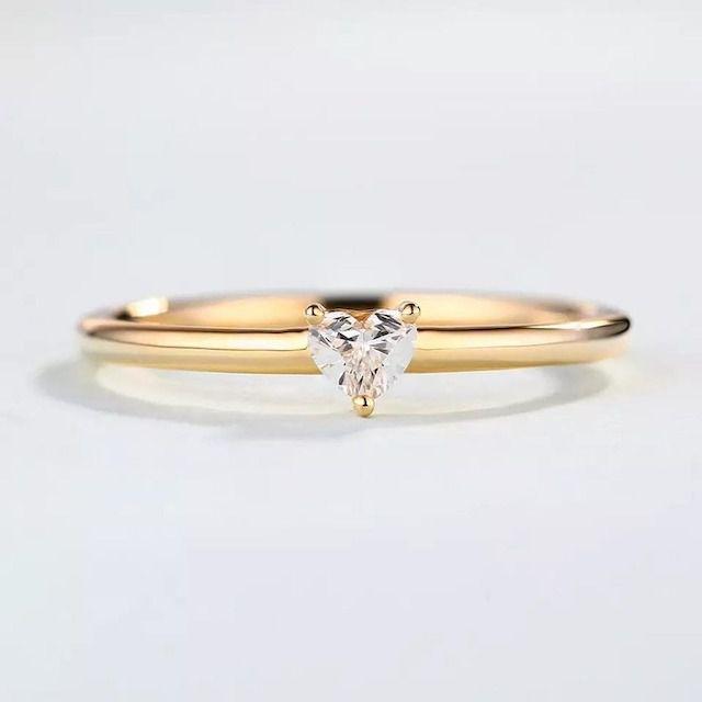 TheDiamondArt Heart-Shape Diamond Solitaire Ring