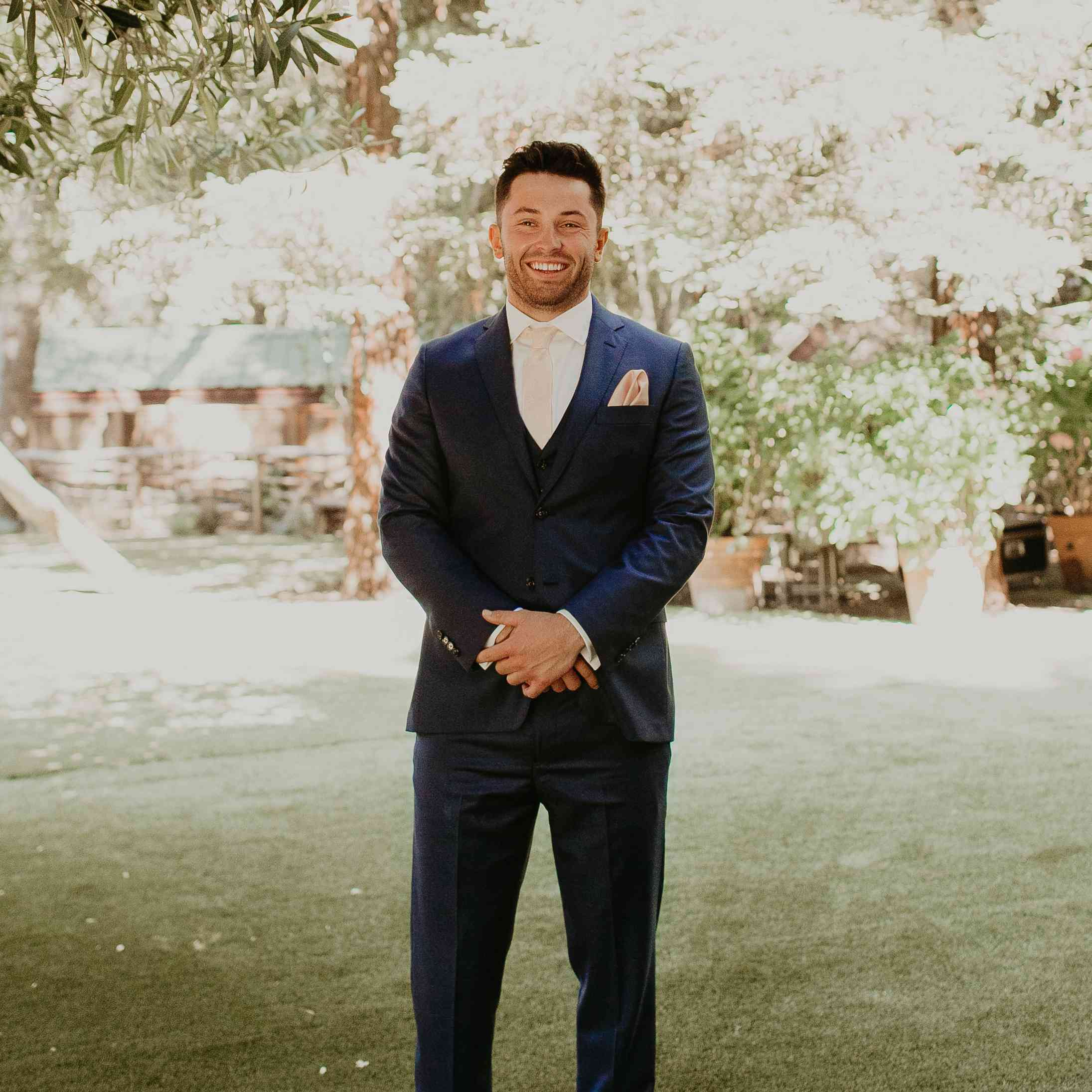 Baker Mayfield Wedding, groom