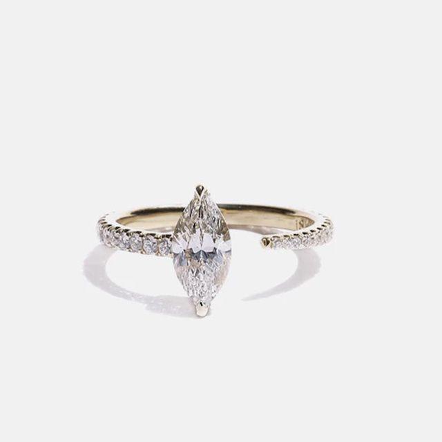 KatKim Marquise Crescendo Pavé Ring