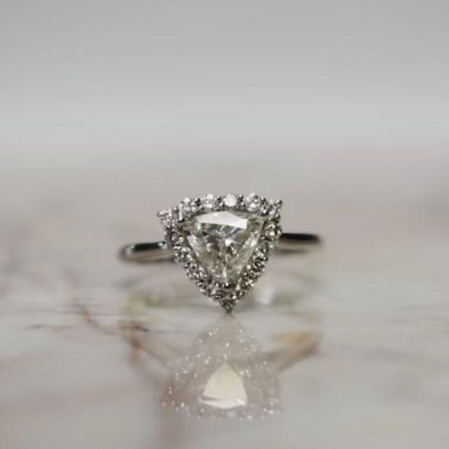 ArmenJosephJewelers Halo Trillion Natural Diamond Ring